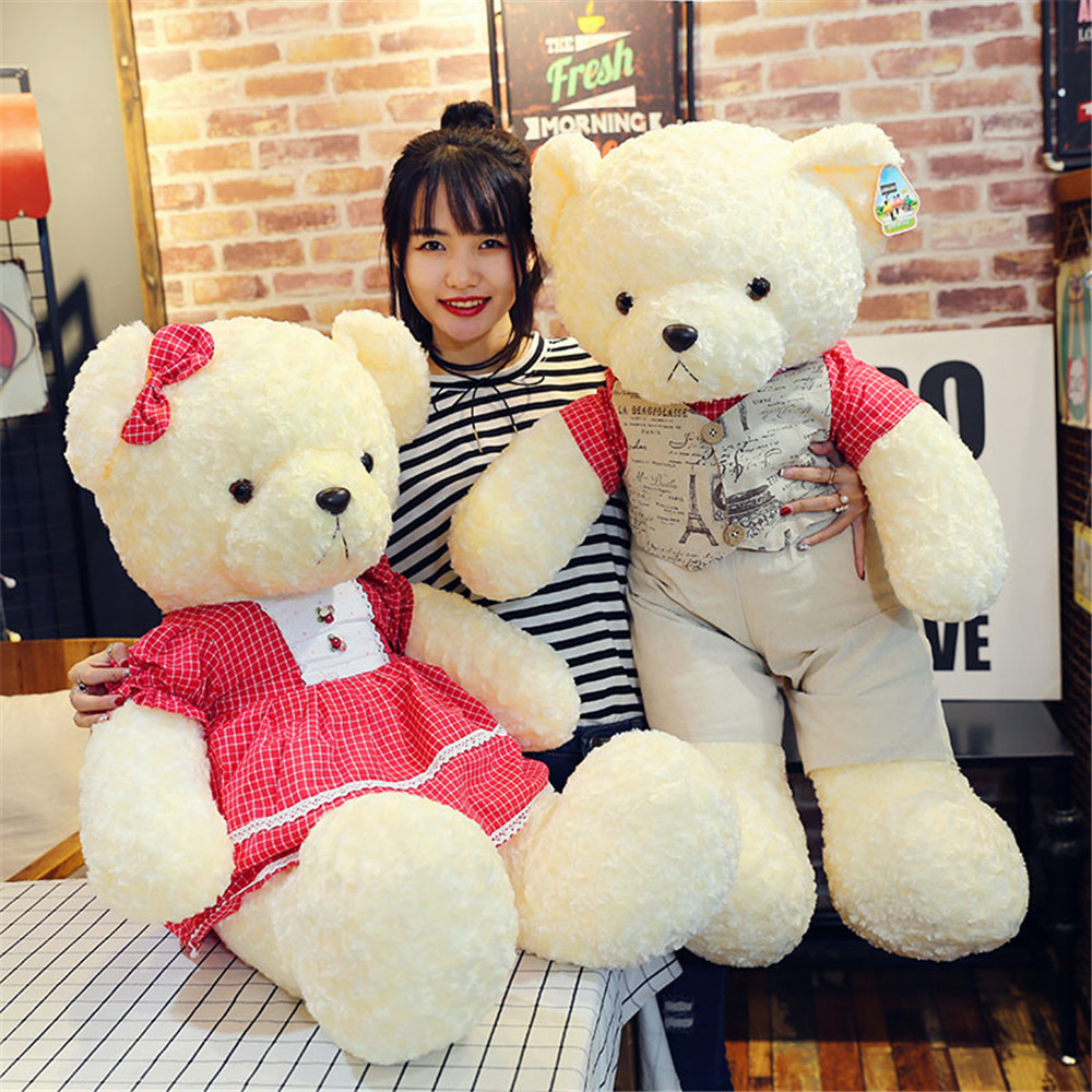 Fancytrader Big Soft Dressed Teddy Bear Toys Stuffed Plush Animals Bears Doll 90cm/70cm Kids Girls Gifts huangshan 1000g page 3