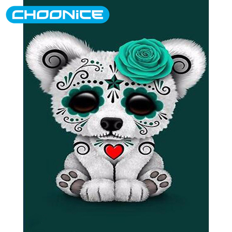 5D Diy Diamond Painting Dog Green Roses Toy Dog DIY 3D Diamond Embroidery Pokemon Home Decoration A Picture Of Rhinestones