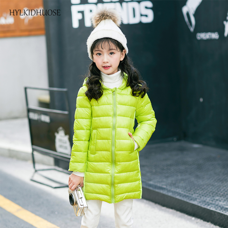HYLKIDHUOSE 2017 Autumn Winter Baby Girls Coats Children Hooded Jacket Long Style Warm Outdoor Kids Outerwear Student Parkas children winter coats jacket baby boys warm outerwear thickening outdoors kids snow proof coat parkas cotton padded clothes