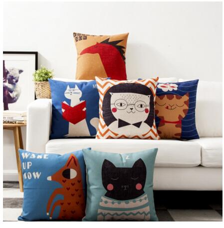 Cat Paradise Cute cartoon fresh childrens simple home cotton pillowcase personalized sof ...