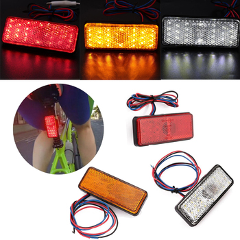 Square Motorcycle LED Reflector Brake Turn Signal License Plate Light Waterproof diamond stylish watches for girls