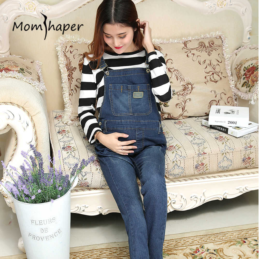 dc40c43a745 ... clothes Jeans bibs maternity autumn Elasticity Foot pants Lift up  abdomen women plus size 2018 fashions Trousers on Aliexpress.com