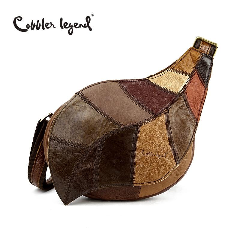 Cobbler Legend Brand Design 2016 Genuine Leather Bag Chest Pack Women s Messenger Bag Vintage Shoulder