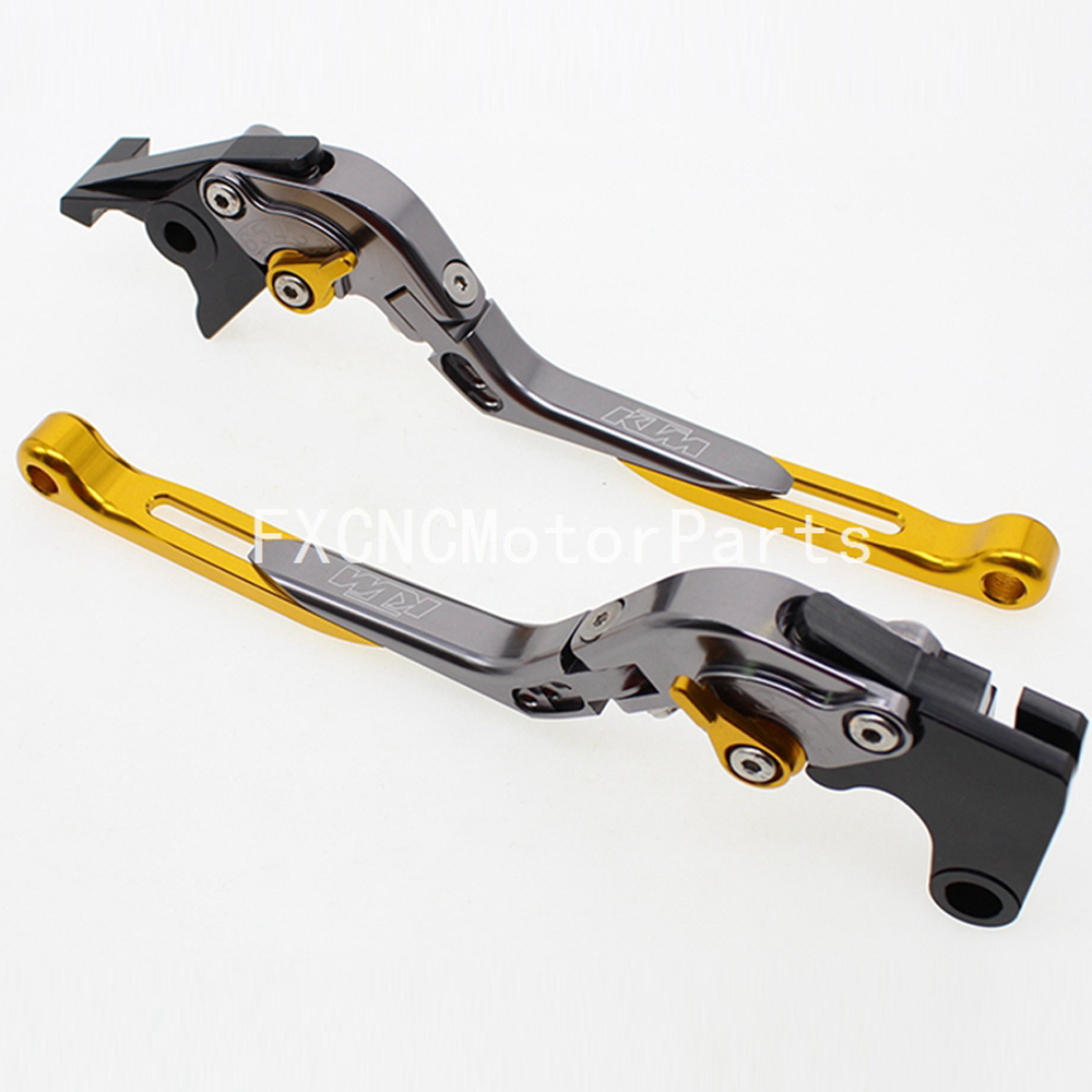FX CNC Motorcycle Folding Extendable Brake Clutch Levers With Package For KTM 950 SM SUPERMOTO 2007 - 2012 2008 2009 2010 2011 new cnc billet clutch cover outside for ktm 250 xcf w 2008 2009 2010 2011 2012 2013