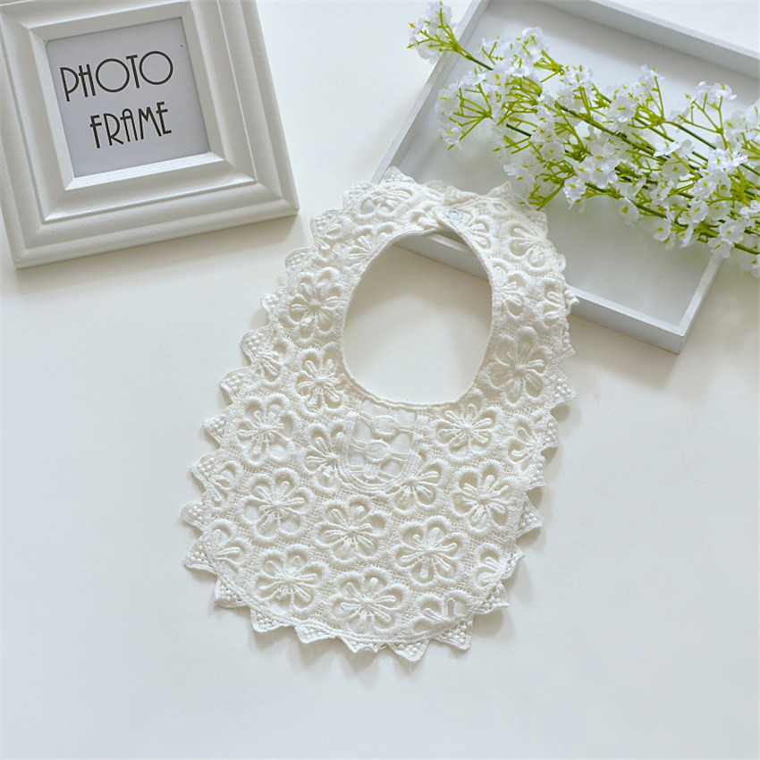 2018 Crazy Popular New Baby Girls 100% Cotton Lace Bibs Baby Burp Cloths 0-3 Years2018 Crazy Popular New Baby Girls 100% Cotton Lace Bibs Baby Burp Cloths 0-3 Years