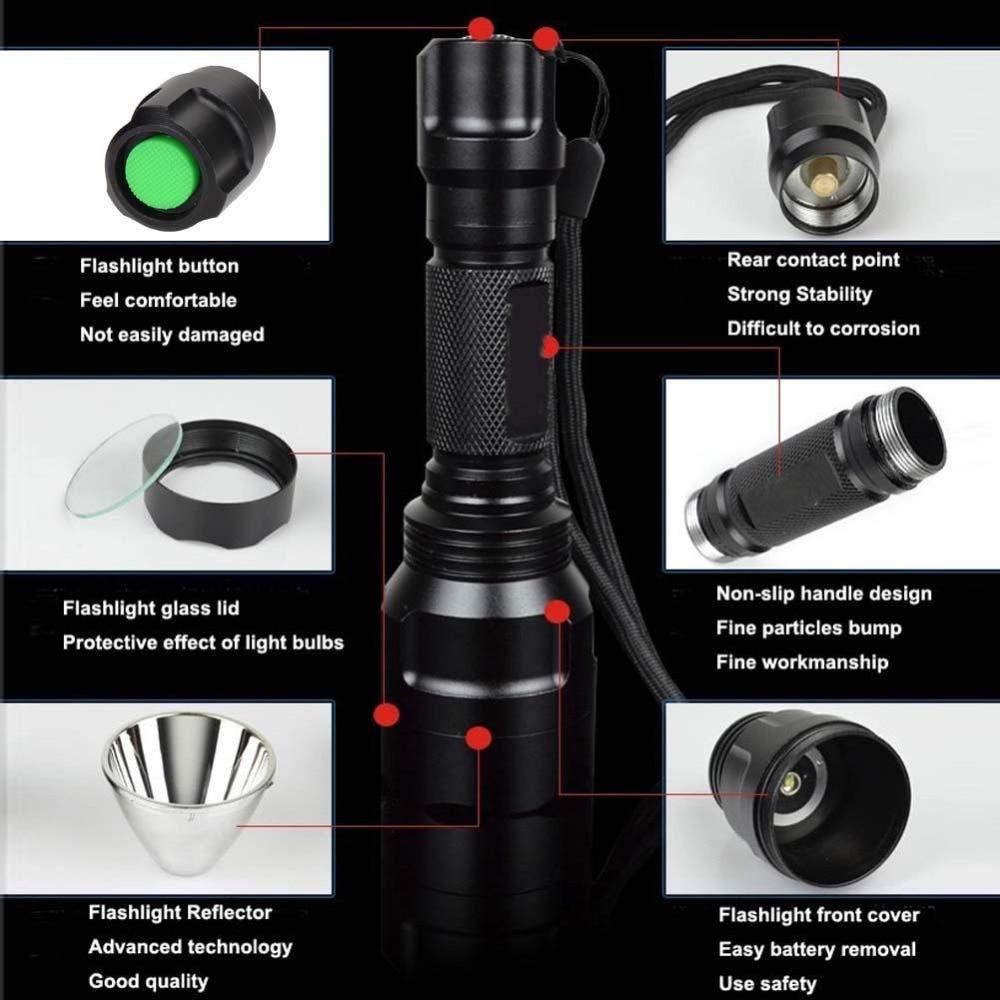SKYWOLFEYE супер яркий 14,6 см 2200LM Q5 светодиодный Портативный фонарик 18650 Перезаряжаемые батареи факел свет лампы Алюминий зум