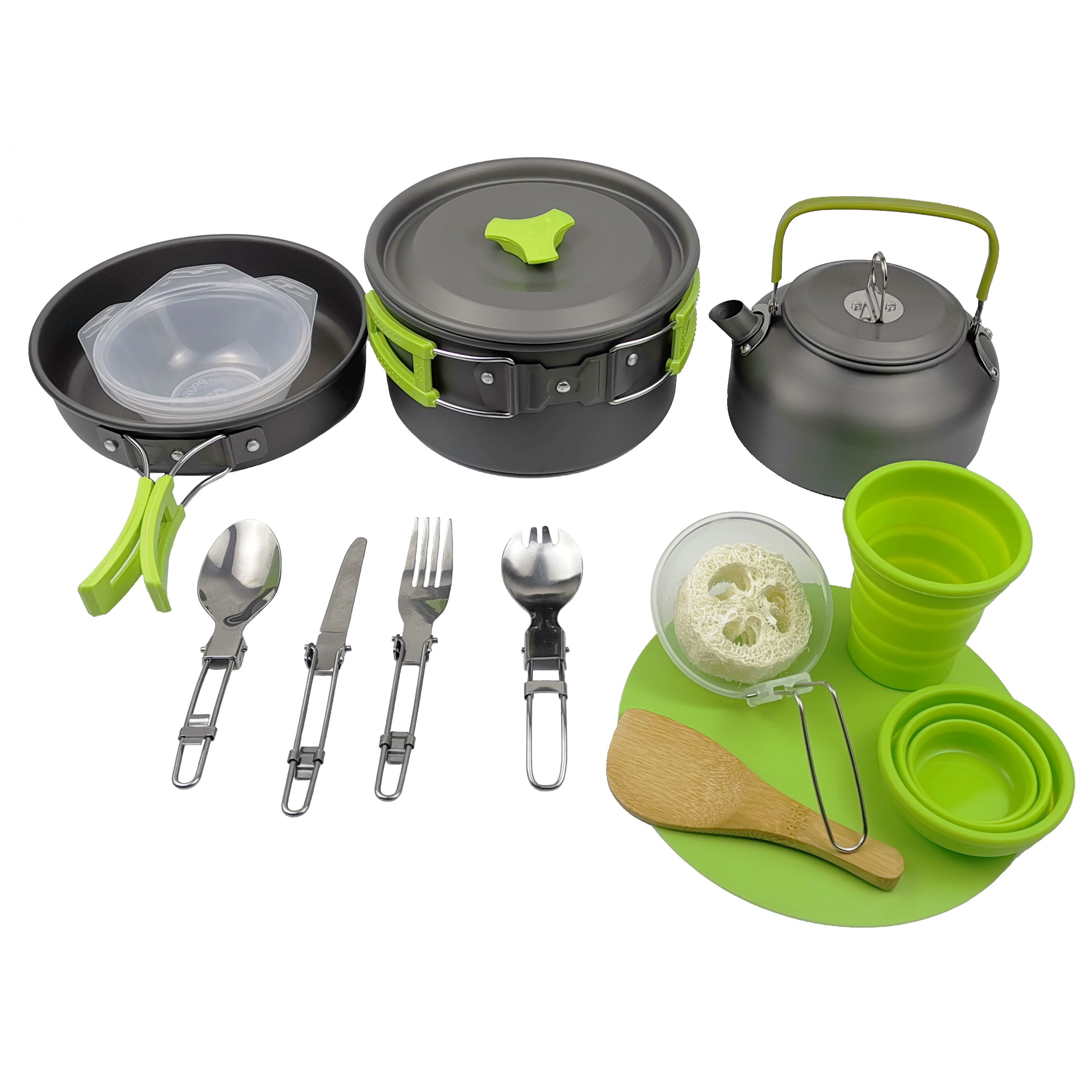 OutdoorBackpacking Camping Cookware  Lightweight Folding Picnic Camp Cooking Gear