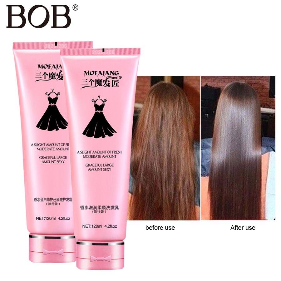 BOB Shampoo Hair-Care-Set Hair-Conditioners Liquid Treatments Coconut-Oil Straight Scalp