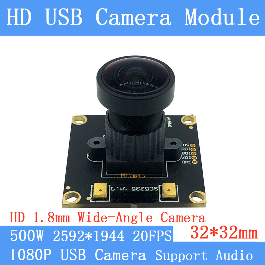 Fisheye CCTV Wide View Angle 180degree 5MP Full HD 1080P High Speed MJPEG 2592*1944 20fps USB Camera Module for Android LinuxFisheye CCTV Wide View Angle 180degree 5MP Full HD 1080P High Speed MJPEG 2592*1944 20fps USB Camera Module for Android Linux