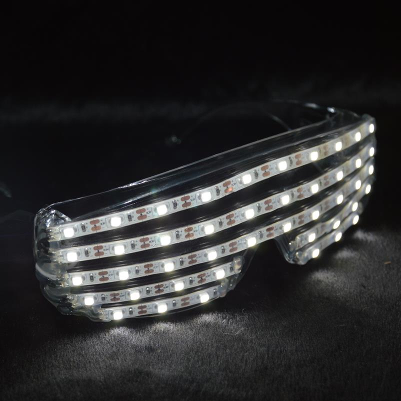 Hot Sale Led Light White Color Luminous Flashing Glowing Glasses For DJ Club Party Christmas Halloween Decoration Free Shipping
