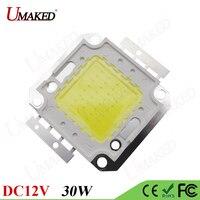 5pcs LED Bulb 30W High Power Epistar Chips COB Warm Natural Cool White DC 12V Input