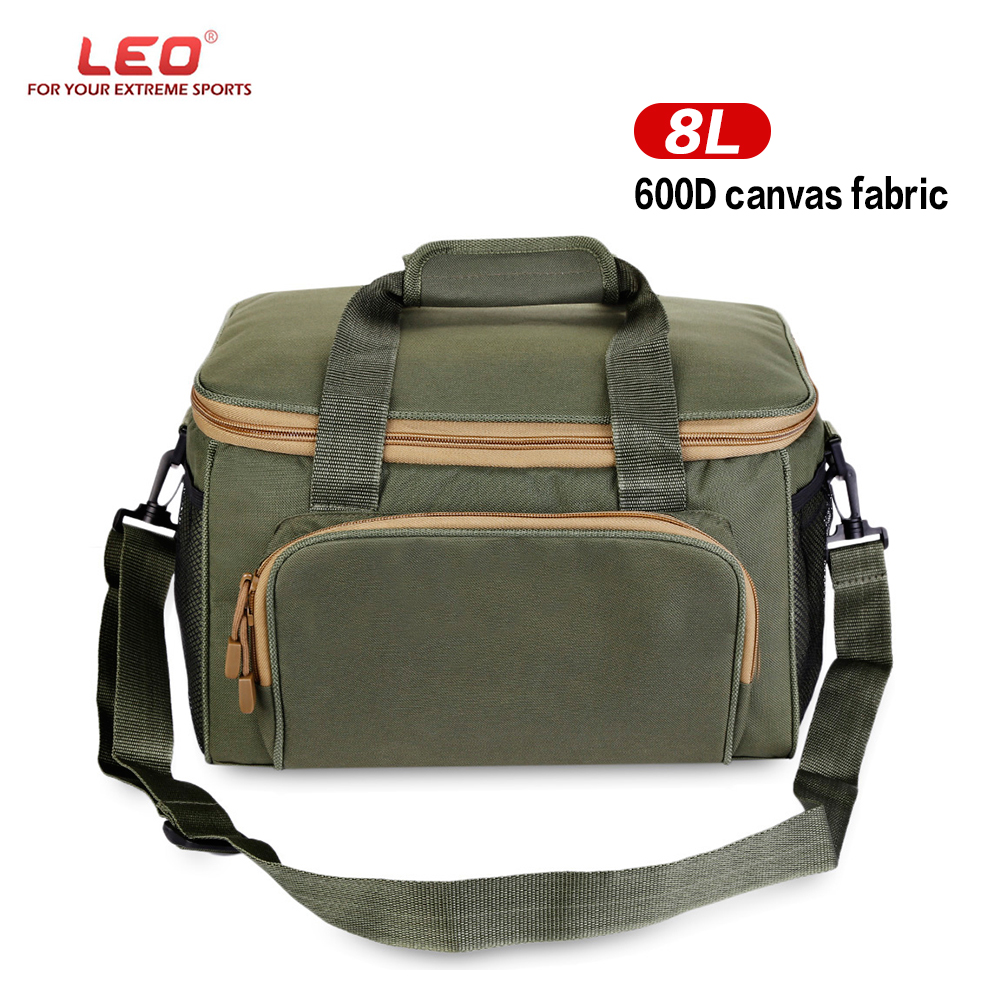 LEO Men Women Fishing Bags Multifunctional Fishing Tackle Bag Canvas Outdoor Waist Shoulder Bags Reel Lure Carrier Storage Bag 47 folding fishing rod bag tactical duel rifle gun carry bag with shoulder strap outdoor fishing hunting gear accessory bag