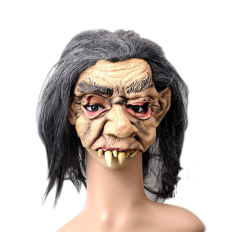 scary devils monster latex mask halloween horror teeth ghost mascara terror cosplay prank masquerade fancy costume party props