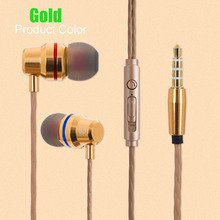 Fone de ouvido Com Fio Fones De Ouvido de Metal Fone De Ouvido de 3.5mm In Ear Fone De Ouvido Esporte Com Mic para nubia N1 Lite N2 NX551J