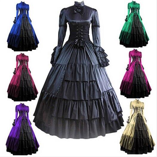 (GT014) robe gothique Lolita guerre civile médiévale robe gothique victorienne robe de bal robe fantaisie bal Halloween Costume de fête