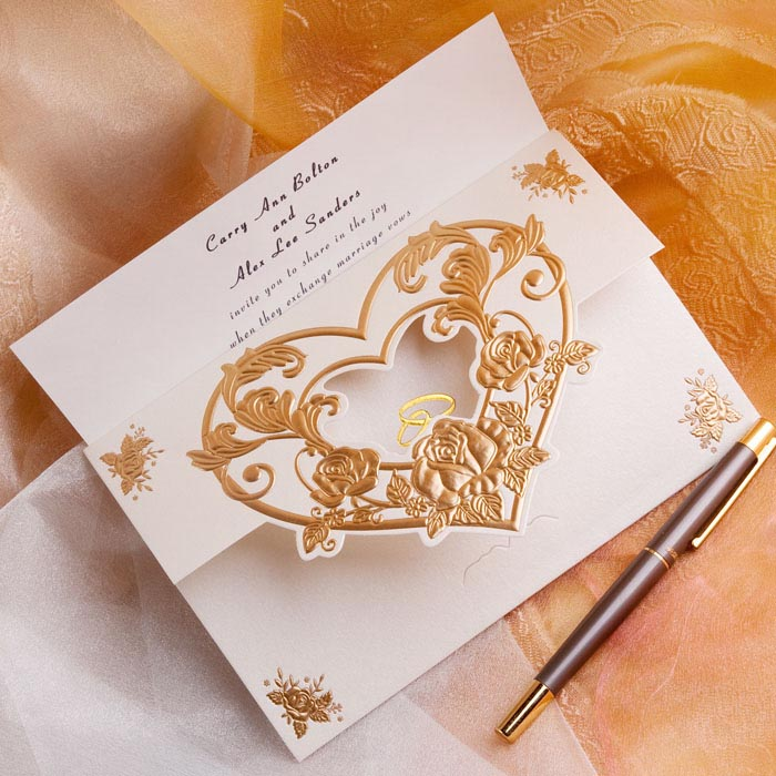 Heart Images For Wedding Invitations: Laser Cut Heart Shaped Wedding Invitations On Aliexpress