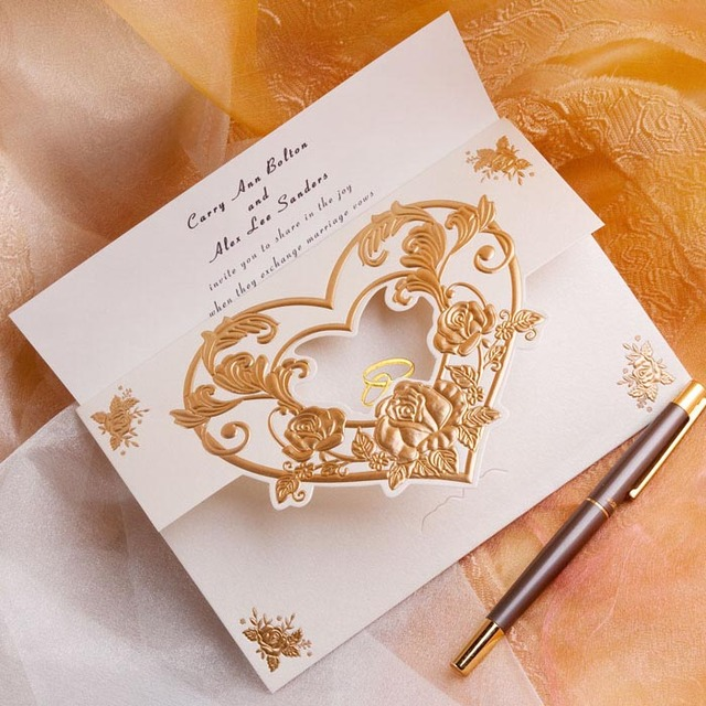 Laser cut heart shaped Wedding Invitations on Aliexpress.com ...