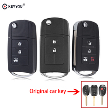 KEYYOU 2/3/4 Buttons Modified Filp Folding Remote Car Key Shell Fob Case For Toyota Camry RAV4 Corolla TOY43 Blade Key Case