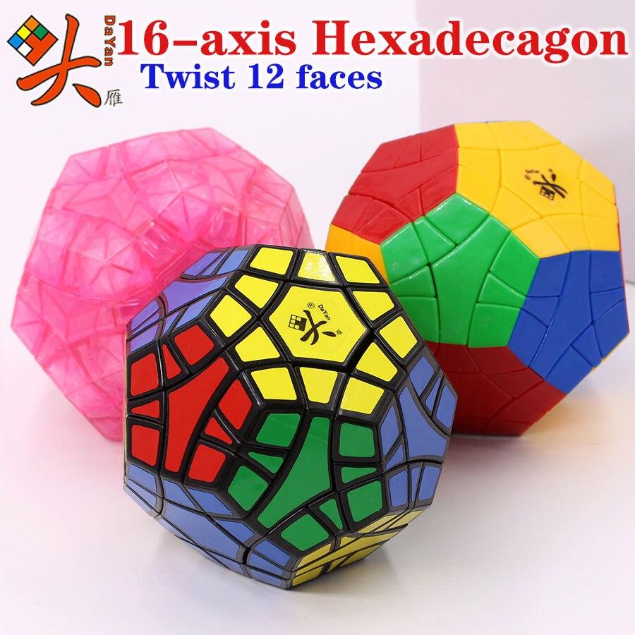 cubo magico quebra cabeca dayan 16 eixo hexadecagono torcao 12 faces master champion colecao specia lstrange