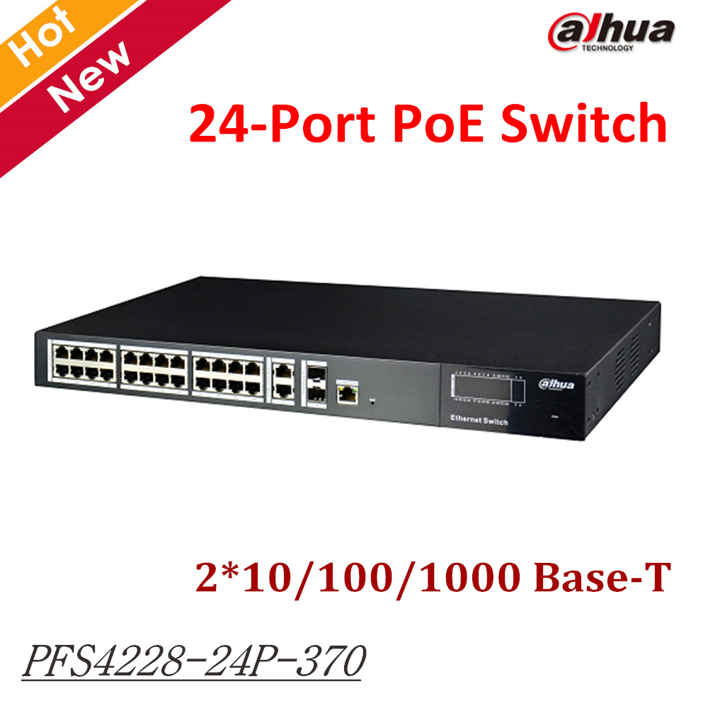 Dahua Export version Two layer network management PoE switch PFS4228-24P-370 24 Port PoE Switch 2*10/100/1000 Base-T for ip цена