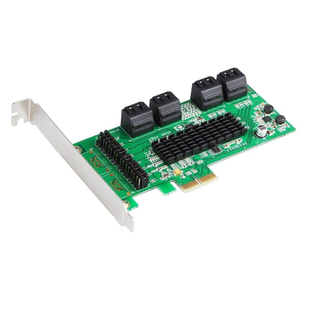 PCI e PCI express to SATA 3 0 III 3 ssd PCIe SATA 8 port expansion
