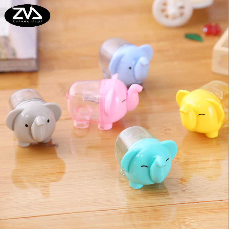 1X Creative kawaii elephant Pencil Sharpener Cartoon Kawaii Stationery Pencils  School office supplies Gift Free shipping