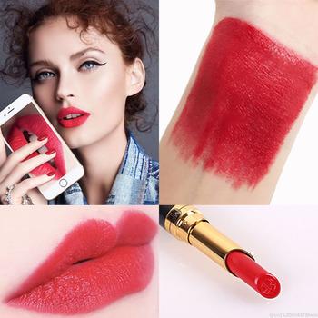 1Pc 12 Colors Waterproof Matte Velvet Glossy Non-Sticky Cup Lip Gloss Lipstick Lip Balm Sexy Red Lip Tint Women Fashion Makeup