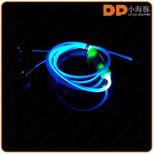 wired Color Change Earphone glow in the dark earphone for samsung galaxy s6