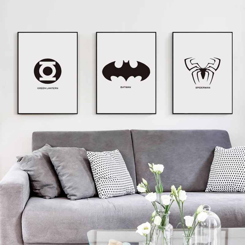 elegant-poetry-movie-font-b-marvel-b-font-comics-superhero-logo-black-and-white-simple-a4-canvas-painting-art-print-poster-picture-wall-decor