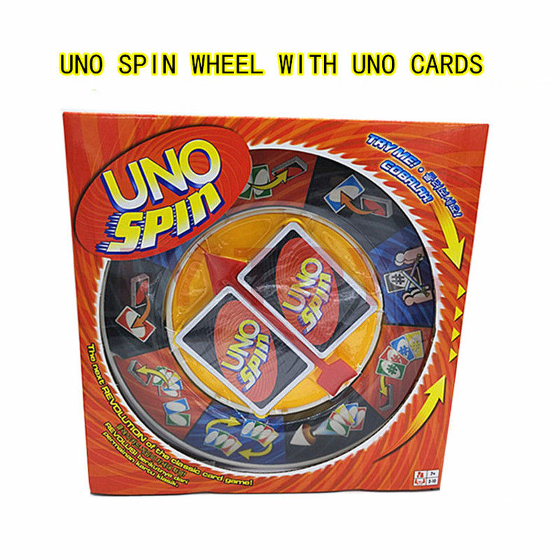 New Red Uno Spin Card Travel Game Playing Card For Family Friends Party Fun