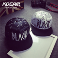 KDEAM 2017 Men Cool hats Unisex Baseball Cap Casual Outdoor embroidery Snapback Hats Hip Hop Hat Male Female White & BLACK