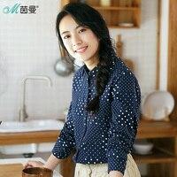 INMAN women winter long long sleeves lapel women blouse