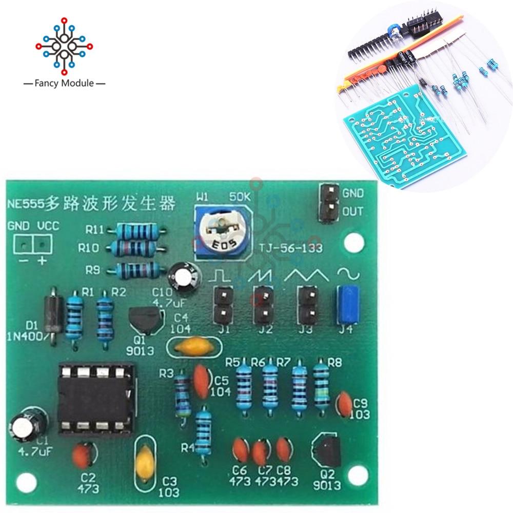 Sine Triangle Square Wave NE555 Multi-Channel Waveform Generator Module DIY Kits ne555d ne555 sop8