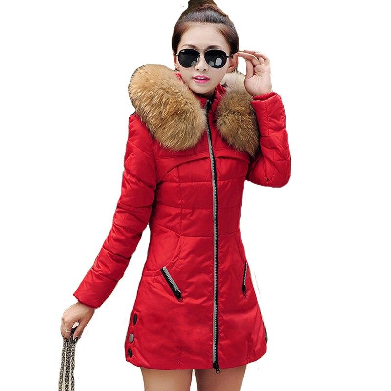2019 Hooded Women Winter Coat Female Cotton Long   Parkas   Ladies outerwear plus size 5XL jaqueta feminina