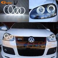 עבור פולקסווגן ג 'טה GTI R32 MKV MK5 ארנב פולקסווגן גולף 2005 2006 2007 2008 2009 2010 עיני מלאך CCFL תאורה בהירה במיוחד ערכת