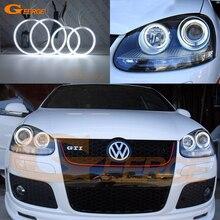Volkswagen VW Golf tavşan Jetta GTI R32 MKV MK5 için 2005 2006 2007 2008 2009 2010 Ultra parlak aydınlatma CCFL melek gözler kit...
