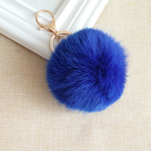 Genuine 8cm Rabbit fur ball keychain!Fashion charm trinket purse furry key chain ring holder bag decoration Jewelry kawaii gift