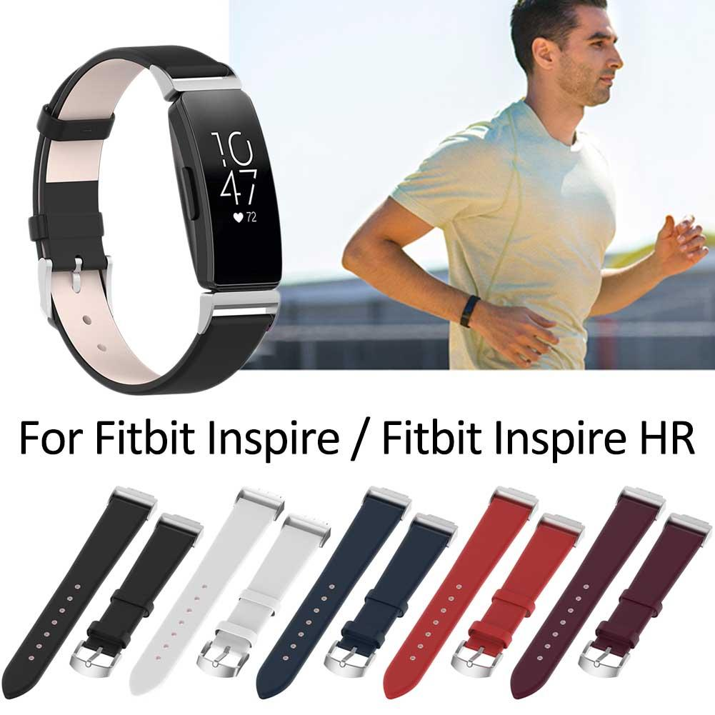 Image 2 - Genuine Leather Wristband Watch Band Strap Inspire Inspire HR Fitness Trackers Replacement Watch Band Strap For Fitbit-in Smart Accessories from Consumer Electronics