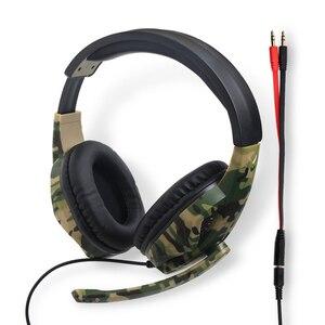 Image 5 - PS4 سماعات للعب 3.5 مللي متر التوصيل الإنترنت بار 50 مللي متر سائق HD الصوت جامعة أساطير سماعة الألعاب مع الحوار Mic بنين كامو