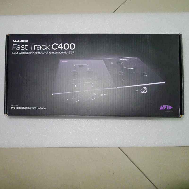 New Original M-AUDIO Fast Track C400 audio interface 4 input and 6 output  usb sound card in stock Wholesale retail packaging