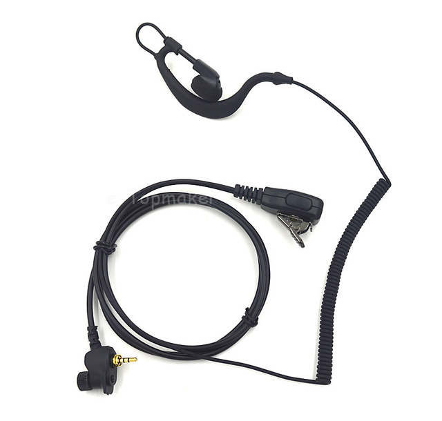 1 Pin Covert Curl Wire Headset Earpiece Mic PTT for Motorola MTP850 Two Way Portable Radio MTH600 MTH650 MTH800 MTH850 MTS850