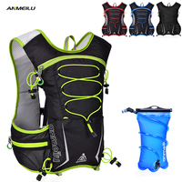ANMEILU Camping Backpack 5L Waterproof Sports Camelback 2L Water Bag Marathon Running Climbing Cycling Hydration Backpack