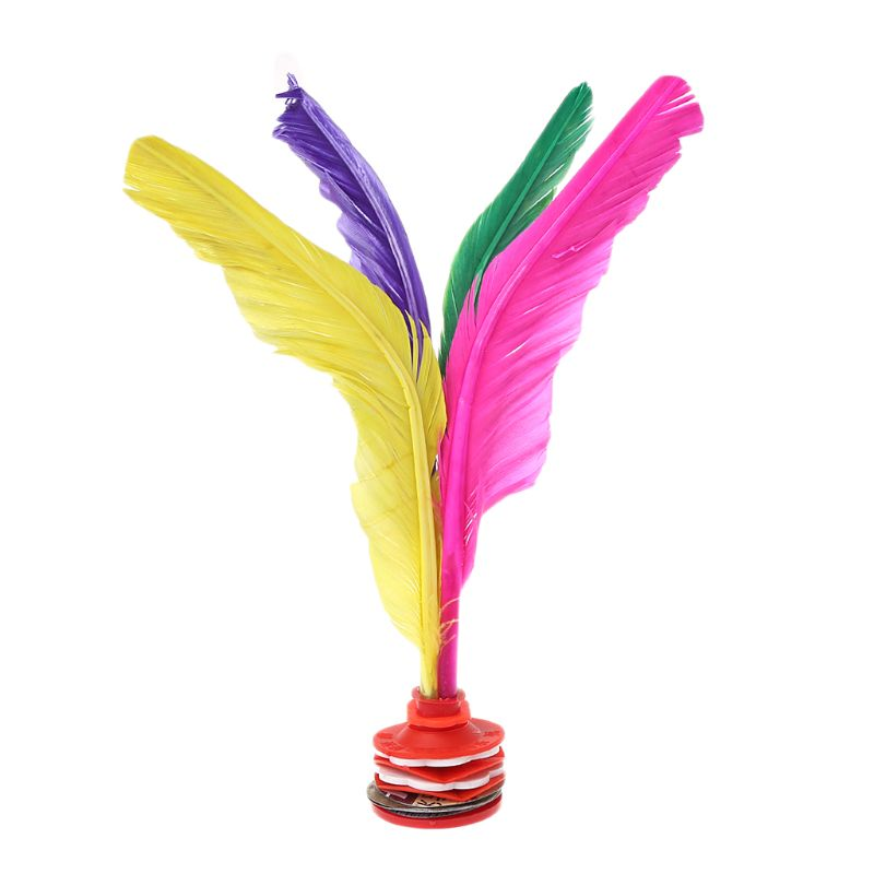 Colorful Feather Chinese Jianzi Fitness Sports Toy Game Foot Kicking Shuttlecock Y51D