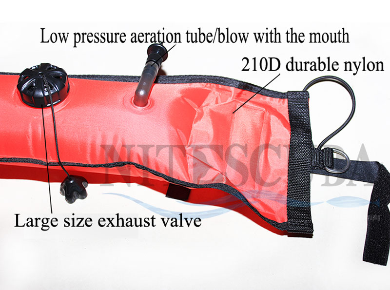 Image 3 - NiteScuba SMB Safety sausage Dive float buoy set Aluminum Spool Finger Reel for Cave Diving Underwater Photography accessories