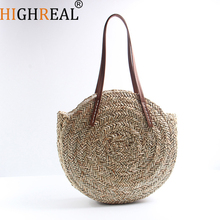 Beach Bag Round Straw Totes Bag Large Big Summer Straw Bags Women Natural Handbag 2018 Circular