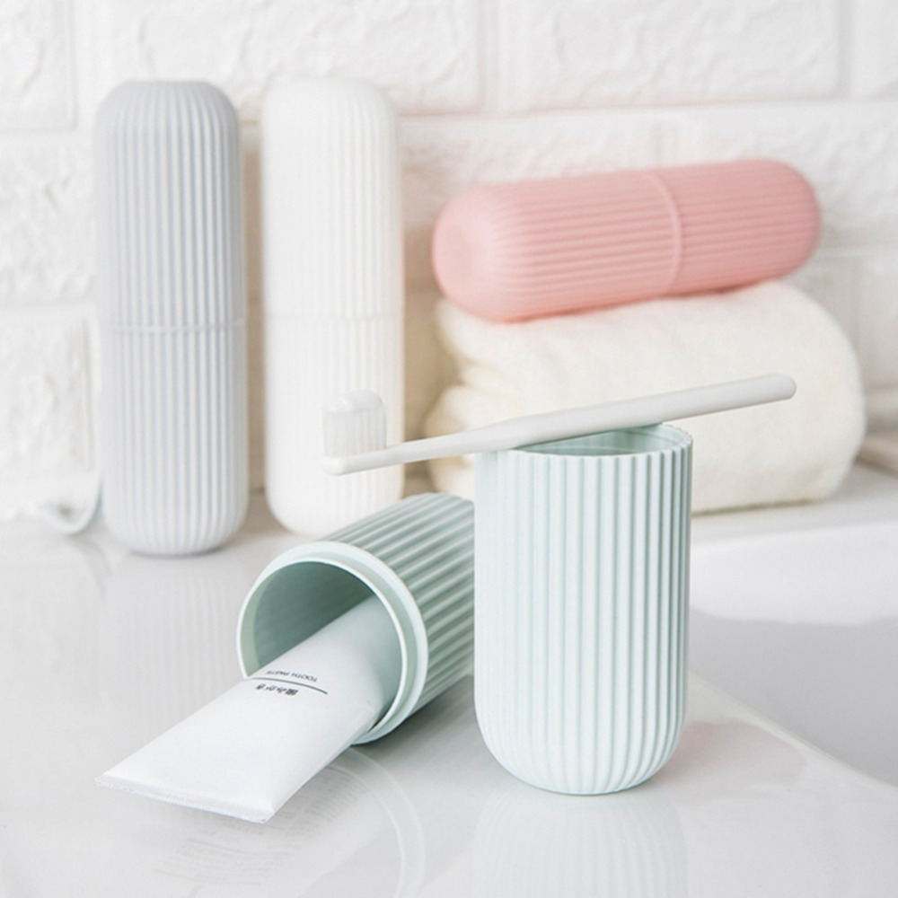 1Pc Toothbrush Storage Box Portable Toothbrush Holder Cover Toothpaste Case For Home School Travel Container for Toothbrush image