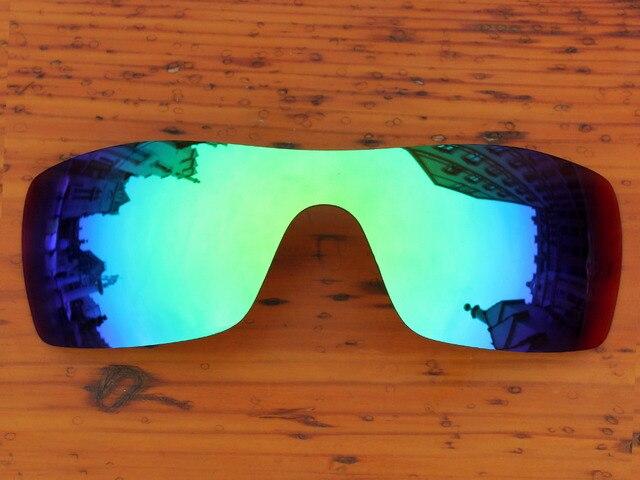 Изумрудно-Зеленый Зеркало Поляризованных Сменные Линзы Для Batwolf Солнцезащитные Очки Кадров 100% UVA и UVB Защиты