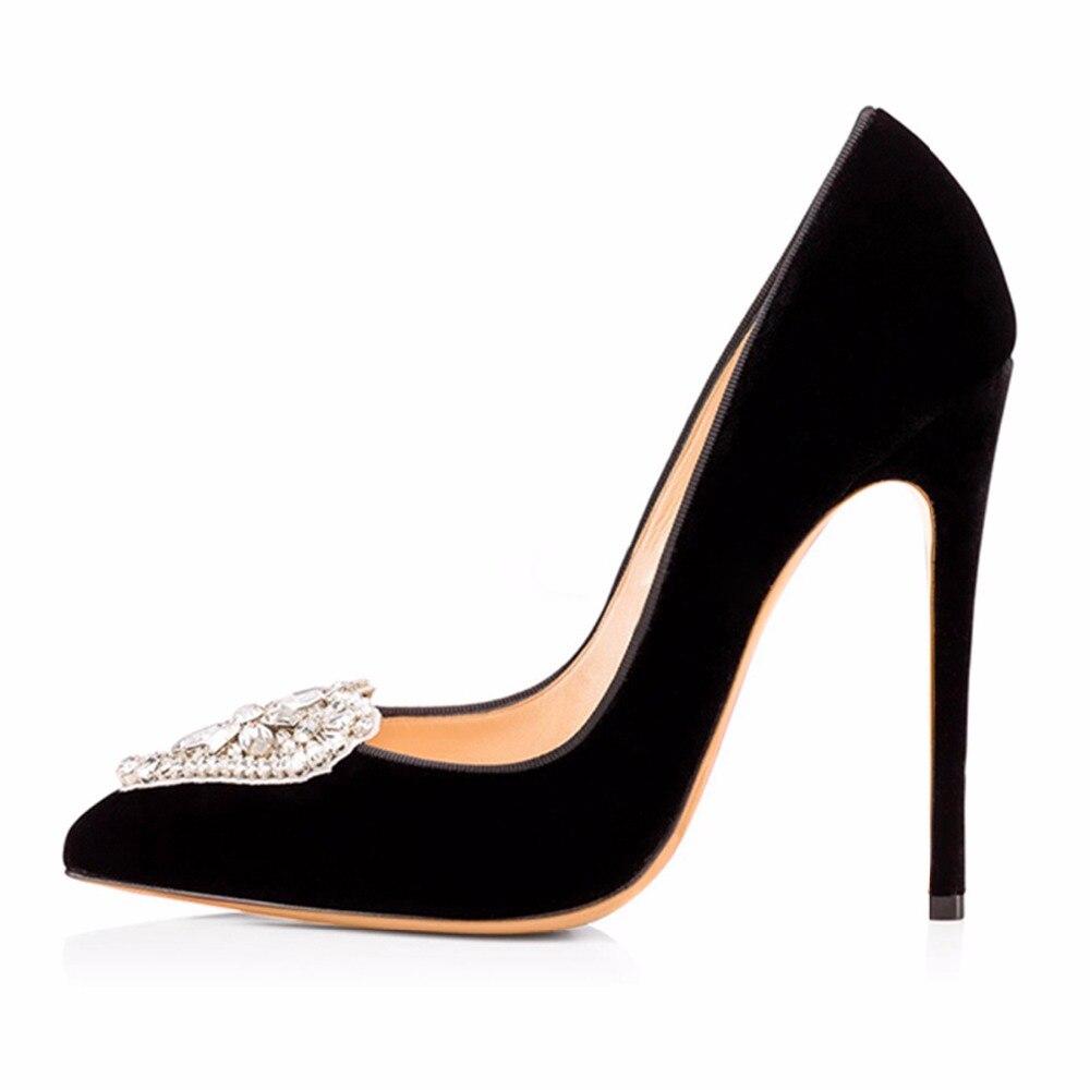 2016 Elegant font b Women s b font Pointy Dress Pumps Black Or White Sexy High