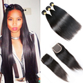 Indian Virgin Hair With Closure Indian Virgin Hair Straight With Closure 3 Bundles With Closure Human Hair With Closure