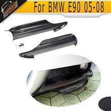 E90 Углеродного Волокна Переднего Бампера Для Губ Splitter для BMW E90 Конвертируемая M TECH M Sport бампер 2005-2008